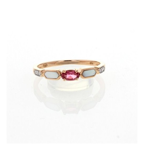 BAGUE OR ROSE TOURMALINE 3241362