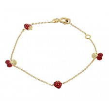 Bracelet enfant or jaune fruits 16cm