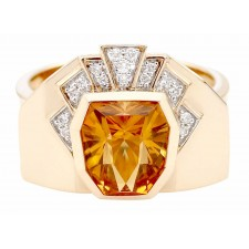 BAGUE CITRINE DIAMANTS BC2323CT/BTS