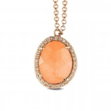Collier ORRose - Aventurine et Diamants