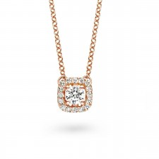 Collier en ORRose et diamants