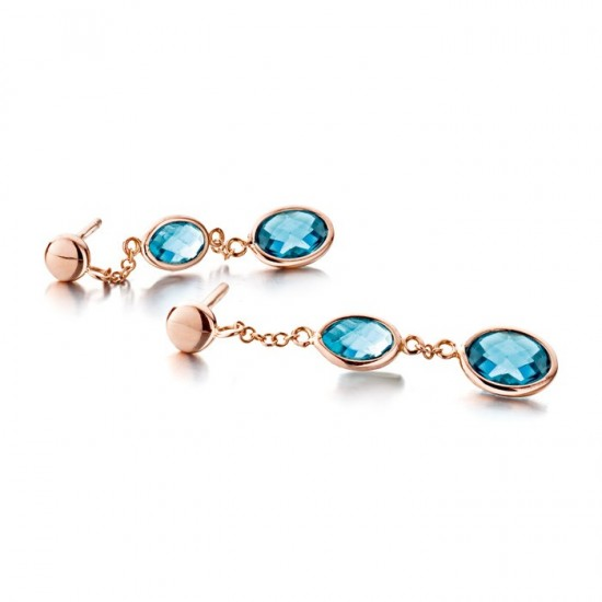 Boucles d'oreilles London Blue