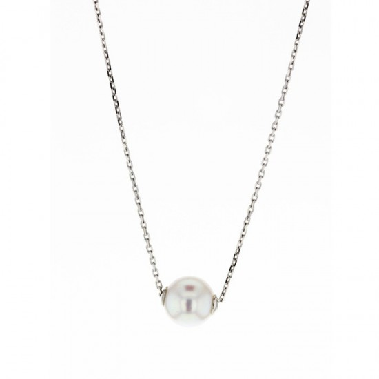 Collier or blanc - Perle Akoya