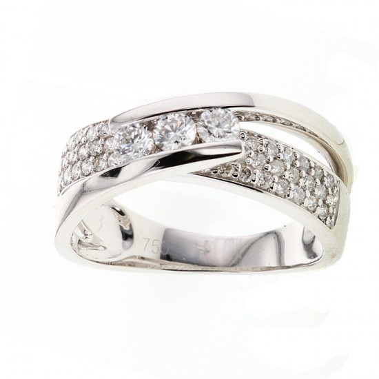 Bague Trilogie diamants