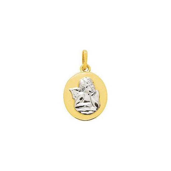Medaille Ange - ROND- BICOLORE