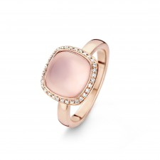 Bague ORRose - Quartz Rose et Diamants