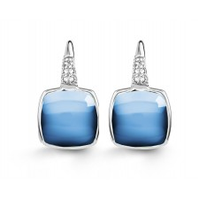 Boucles d'oreilles ORBlanc -Topaze bleue, Diamants