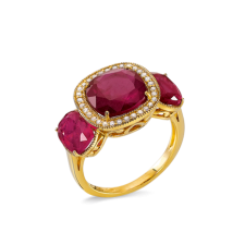 Bague ORJ- Rubis/ Diamants