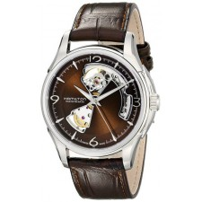 Watch XL JM auto Open heart, brown