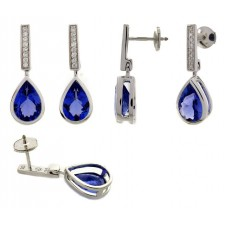 Boucles d'oreilles ORBlanc - Tanzanite / Diamants