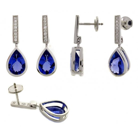 BO pendantes ORBlanc - Tanzanite / Diamants