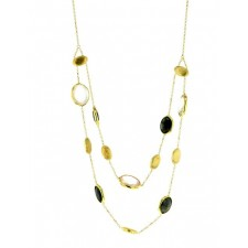 Collier Or jaune - Pierres