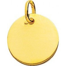Plaque ronde or jaune