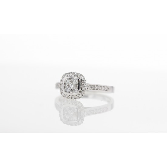 Bague or blanc - Diamants
