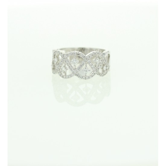 BAGUE DIAMANT 0.61 G.OR750