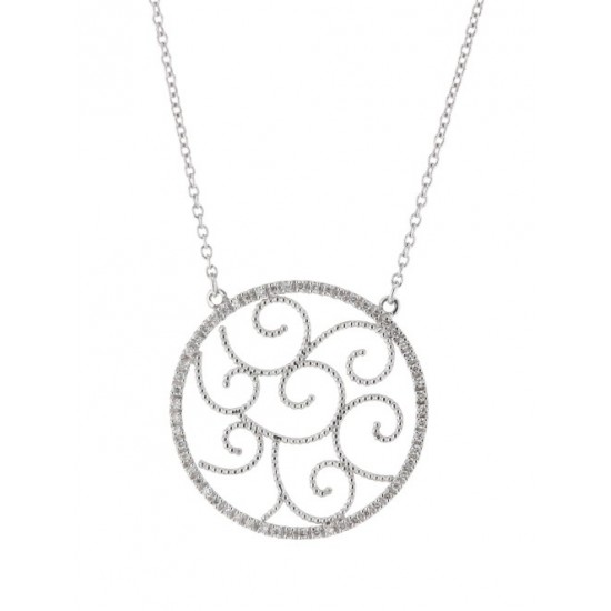 Collier Arabesques - Or blanc et Diamants