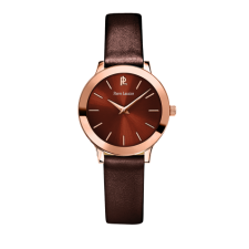 Montre Pierre Lannier Chocolat/ Rose