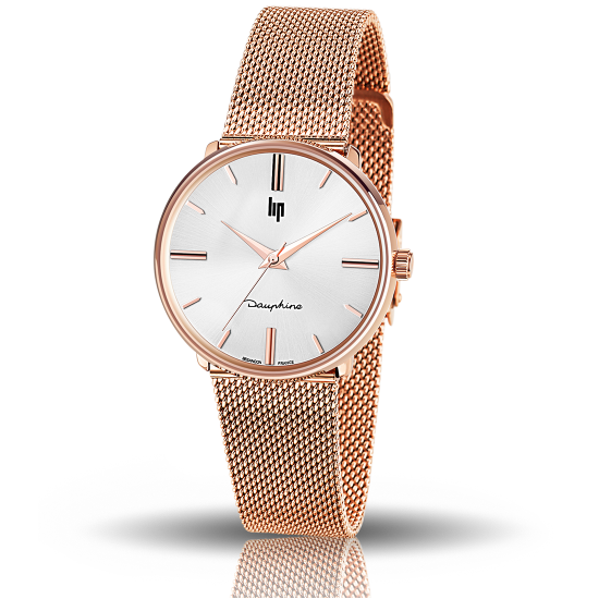 MONTRE LIP DAUPHINE ROSE 34
