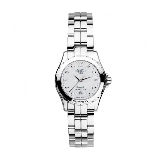 MONTRE MICHEL HERBELIN NEWPORT TROPHY DIAMANTS