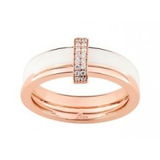 BAGUE CONFIDENCE FINE OR ROSE 375