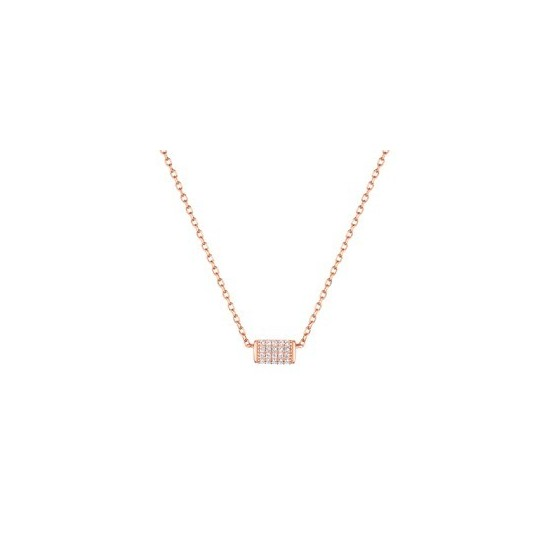 COLLIER OXYDE DE ZIRCONIUM OR ROSE OR375
