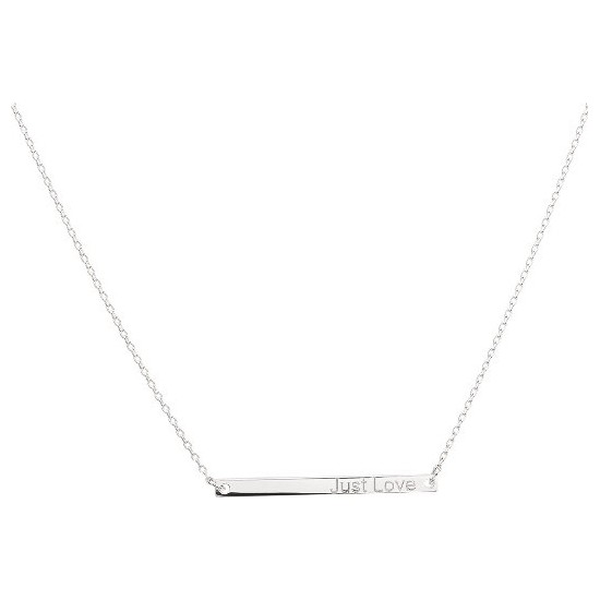 COLLIER ARGENT JUST LOVE