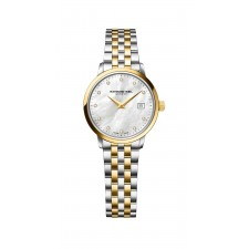 MONTRE R.WEIL BICOLORE / NACRE / DIAMANTS