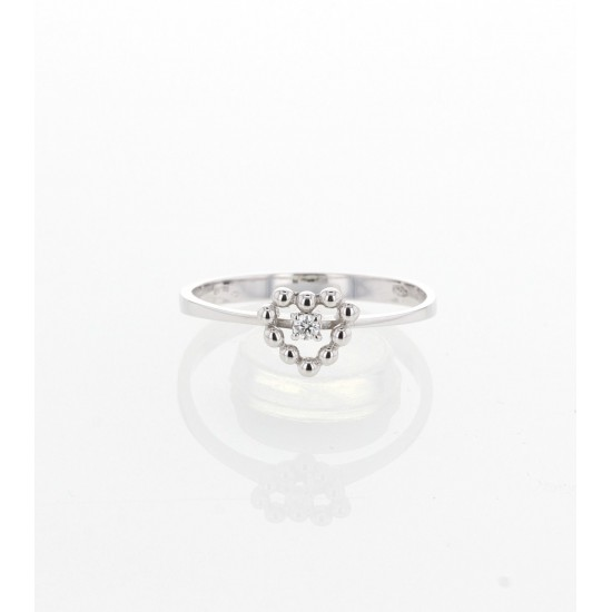 Bague COEUR bicolore - diamants