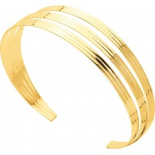 BRACELET JONC 3 RANGS OR JAUNE